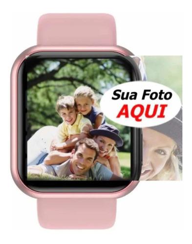 Relógio Inteligente Smartwatch T80 Feminino + Pulseira Extra
