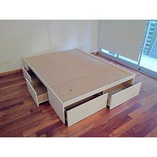 Cama Box 2 Plazas Con 6 Cajones Idel Para Guardado