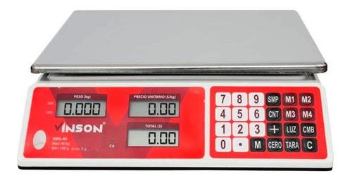 Báscula Comercial Digital Vinson Vins-40 40kg 110v Gris 33cm X 24cm