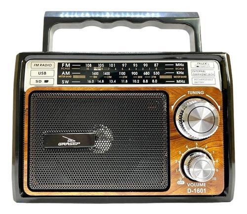 Radio Antigo Retro Vintage Fm Am  Usb Sd  Bateria