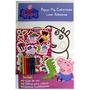 Peppa Pig Colorindo Com Adesivos