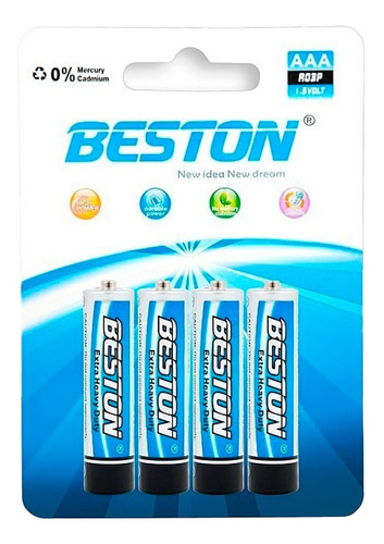 Bst-r03p - Bateria Beston Aaa Carbon Blister X 4