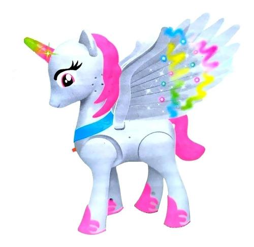 Unicórnio / Poney Com Som E Luz A Pilha Lovely Horse A Pilha