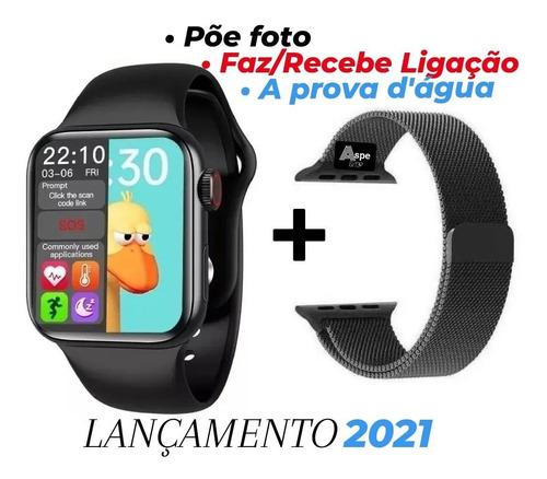 Smartwatch Relógio Iwo Hw12 Preto 40mm Faz Ligação + Brinde