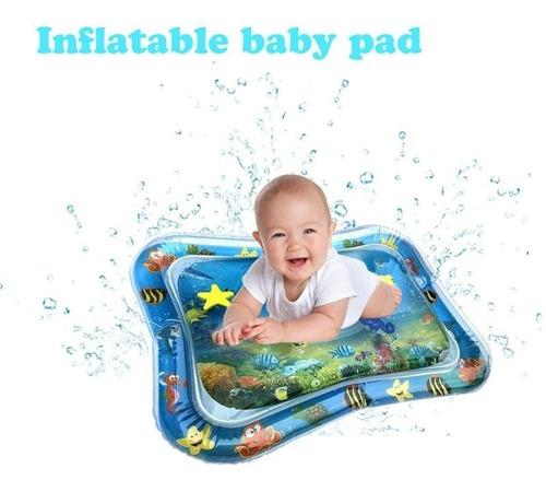 Tapete Almofada Bóia Água Inflável Atividades Infantil Bebê