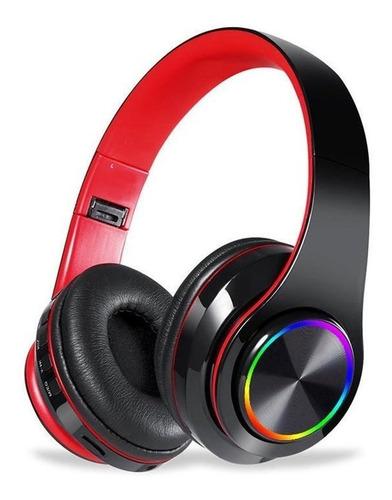 Dobrável Sem Fio 5.0 Fones De Ouvido Com Luz Colorida Led