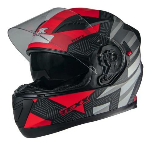 Capacete Texx G2 Trento Vermelho Integral Viseira Solar Moto