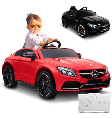Carrinho Elétrico Infantil Mercedes C63s Mp3 12v Controle