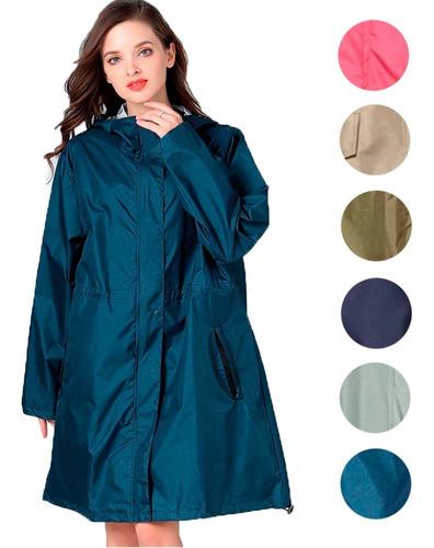 Capa Chuva Poncho Feminino Impermeável Vestido Design Casual