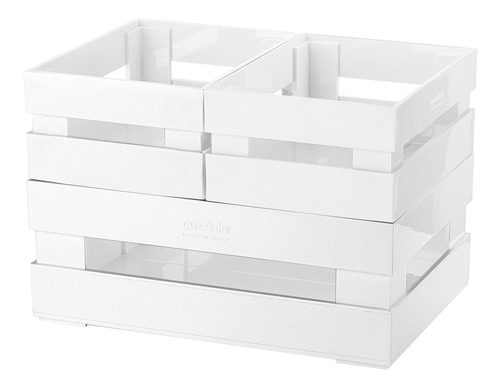 Conjunto Com 3 Caixas Pequenas Branco - Guzzini
