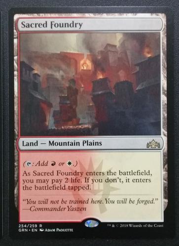 Carta Magic Mtg - Fundición Sagrada - Sacred Foundry X1
