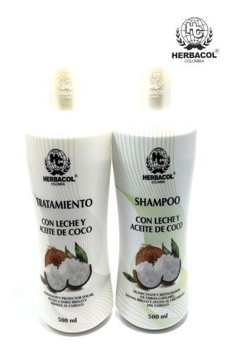 Shampoo Y Tratamiento Con  Leche Y Aceite - L a $21