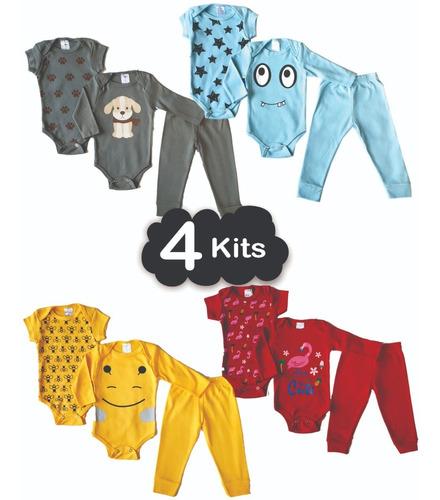 Roupa De Bebe Body Menina Ou Menino Kit 12 Peças Atacado