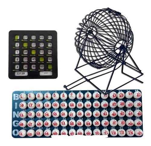 Juego De Bingo Grande Completo + 20 Tablas Plasticas