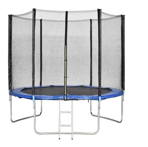 Cama Elastica 2,44m Pula Pula Trampolim + Escada + Rede