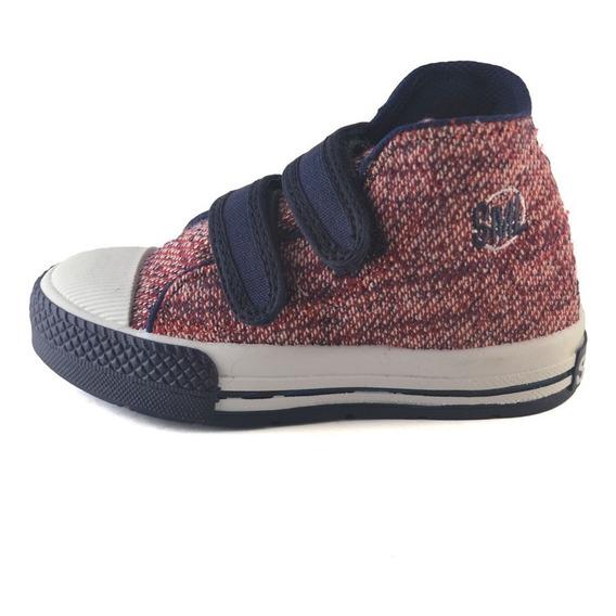 Bota Abrojo Tramado Bordó-azul Small Shoes