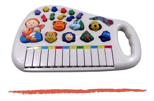 Piano Teclado Animal Brinquedo Infantil Sons Fazenda Sitio