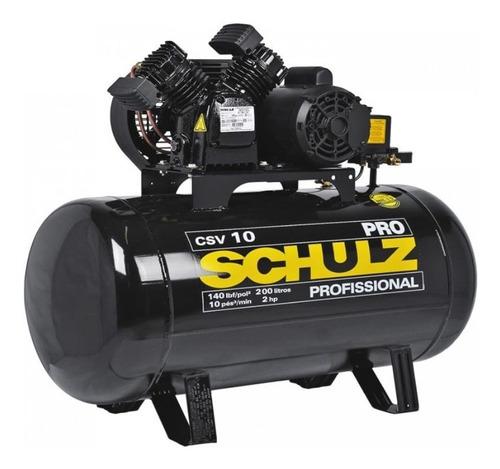 Compressor De Ar Schulz 10 Pés 200 Litros  2 Hp Csv-10/200