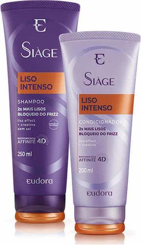 Kit Siàge Liso Intenso Eudora Shampoo + Condicionador