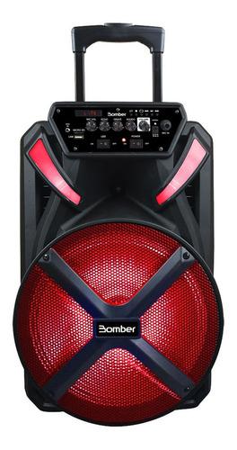Parlante Bomber Papão 500 Portátil Con Bluetooth Negro 115v/240v