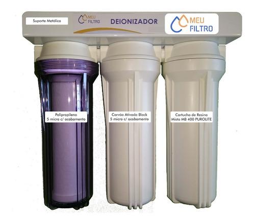 Filtro De Água Deionizador / Desmineralizador Retenção De Só