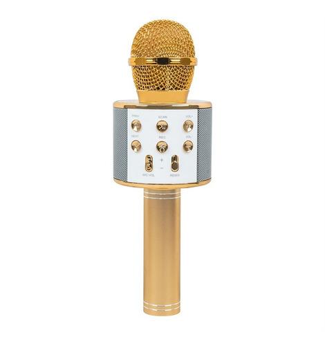 Microfone Ws 858 Bluetooth Sem Fio Karaokê Youtuber Reporter