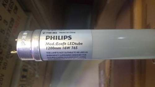 Tubo Led Philips T8 16w 1600lm. 15000 Horas 6500k