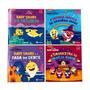 Kit 4 Livros Baby Shark Histórias Para Criança Novo Infantil