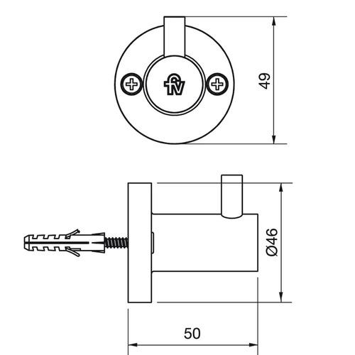 Fv 166/b1 Percha Arizona Simple Cromo Accesorios