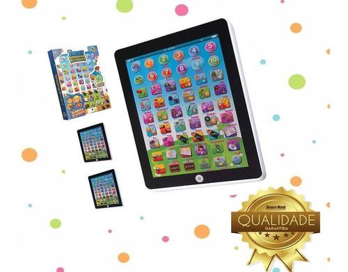 iPad Tablet Infantil Interativo Bilingue Rosa Azul Ou Branco