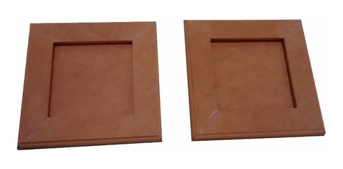 Portaretratos Mdf Listos Para Pintar Y 20x20cm (8 Unidades)