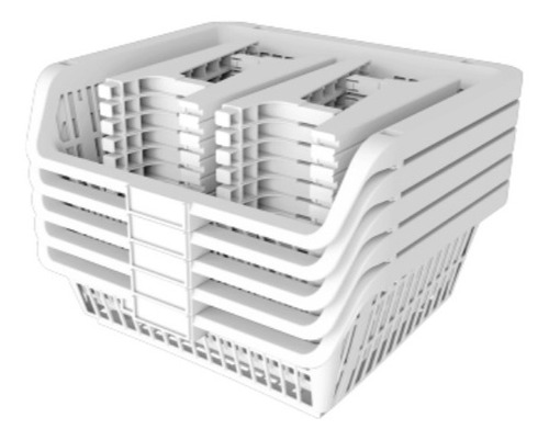 Kit De 5 Canastos/cestos Organizadores Apilables