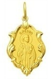 Medalha 1.5cm Sao Pedro Ouro 18k Pingente Ornato  Grati Original