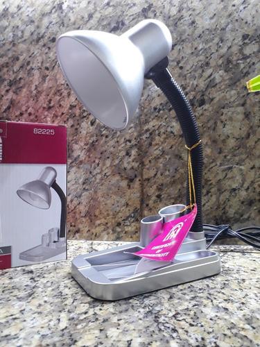 Lámpara De Escritorio Plata 1 Luz E27 (877)