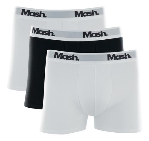Kit 3 Cuecas Boxer Mash Marinho/cinza/marinho 58606
