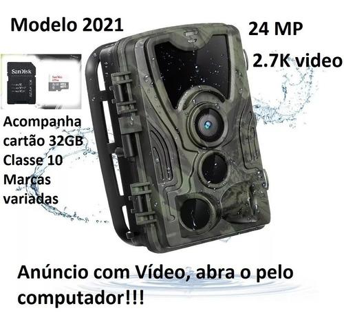 Câmera De Caça Visão Noturna, Observação, Hc801a Sd32 Cl10