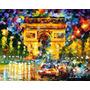 Poster Afremov 60x75cm Paris Arco Do Triunfo Decorar Quarto