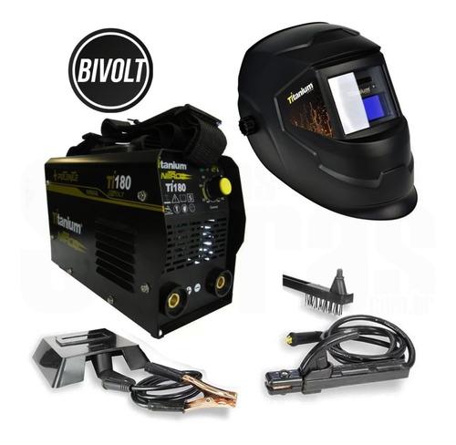 Inversora De Solda 140a Bivolt Ti-180 Titanium + Mascara