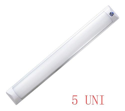Kit 5 Luminária Tubular Led Slim 1,2mt Branco Frio 120cm 40w