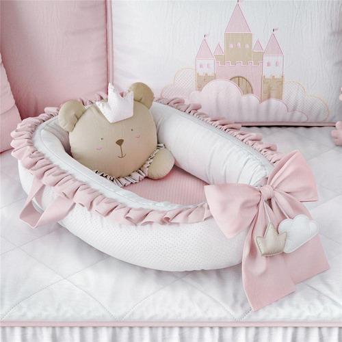 Ninho Para Bebê Redutor De Berço Ursa Princesa Grão De Gente