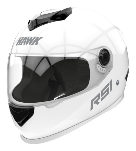 Casco Para Moto Integral Hawk Rs1 Blanco Talle Xl