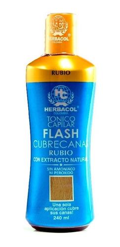 Tonico Capilar Flash Cubre Canas Rubio Medio Herbacol 240ml
