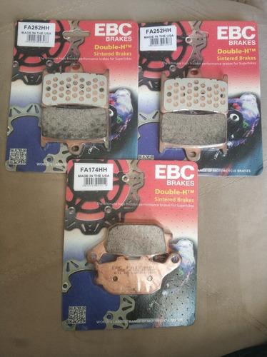 Kit Pastilha Freio Diant Tras  Ebc Yamaha  Mt 09