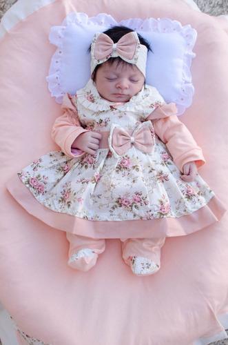 Saída De Maternidade Menina Charmosa Cor 5 Nova 5 Peças