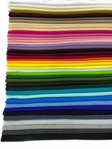 Tecido Meia Malha Penteada 100%algodão 3 Metros Varias Cores