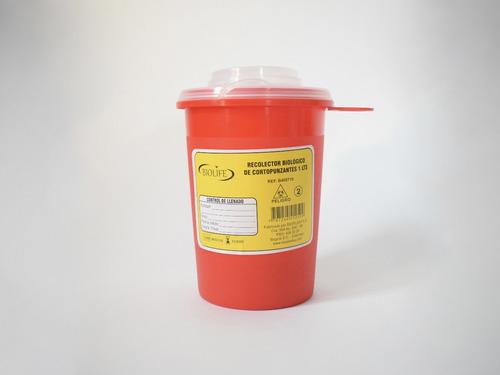Recolector Biológico De Cortopunzantes 1 L
