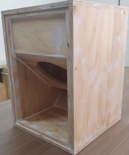 Caixa De Som Gabinete Vazio T18 Na Madeira Sem Acabamento
