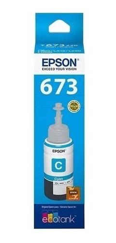 Tinta Epson T673 Original Cian 70 Ml T673220 L1800 L800 L805