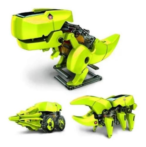 Kit Dinossauro Educacional Robô Solar T3 3x1 Fácil Montar