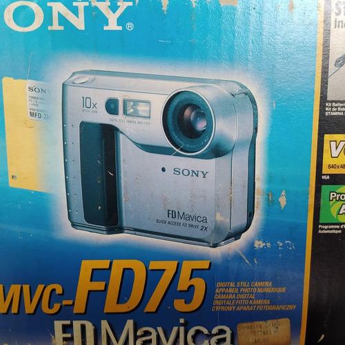 Câmera Fotográfica Digital Sony Mavica Fd 75 Usada Funciona